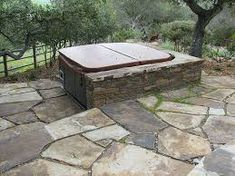 Image result for hot tub stone patio