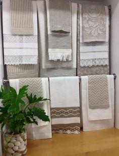 Los más finos guest towel para tu hogar! Diferentes texturas y diseños, bordados a tu gusto.