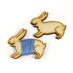 Flossy the Bunny Embroidery Floss Bobbin by sugarcookie on Etsy, $12.00