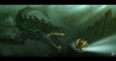 sea monster by blackpoint.deviantart.com