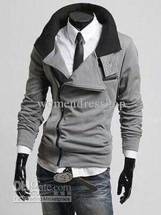 Medium grey hot mens jacket
