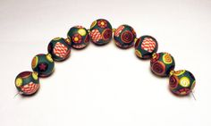 Pantone Handmade Beads Polymer Clay Set of by SweetchildJewelry, $22.50