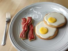 Bacon and egg cookies