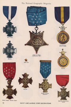 Navy & Marine Corps decorations