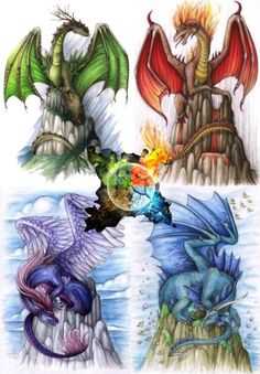 I agree. 4 elements. 4 kinds of dragons. (and more dragons :) )