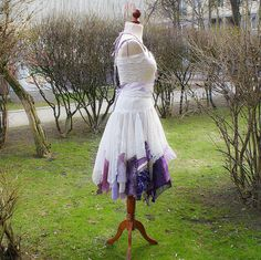 Alternative Wedding Dress Mori Girl Romantic Tattered by cutrag, $188.88