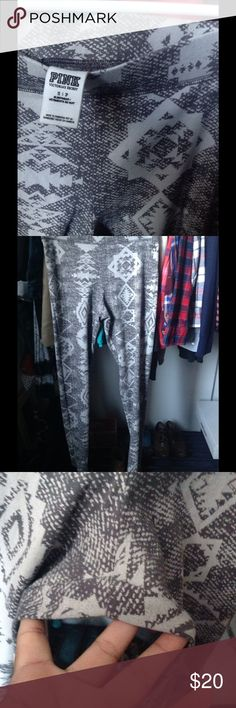 Pink Tribal leggings Used a few times, has some piling in crotch area. Otherwise like new condition PINK Victoria's Secret Pants Leggings