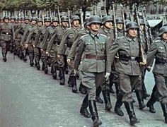 Column of the Wehrmacht in the Champs-Elysées in occupied Paris