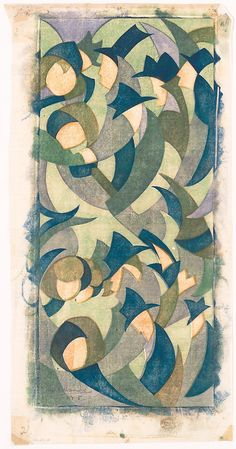 Sybil Andrews - Hyde Park 1931. Highly stylized figures in hats, almost reads as abstract. Nice.
