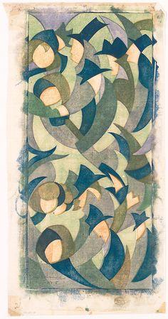 Sybil Andrews / Hyde Park / 1931 / color linocut