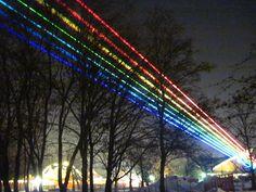 Rainbow laser installation, Berlin