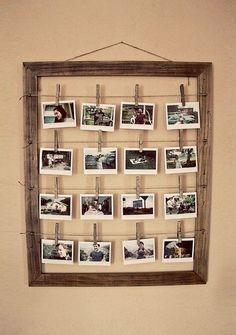 photo frame so you can change out the photos easily