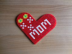 Show your love to mom with this heart. You can use it as a gift tag, put it between a mother days card or on cake for mom! Size: W: 13cm/ H: 11cm