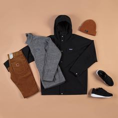 This week's outfit grid features pieces from @patagonia and @carharttwip's #AW15 collections along with the black Shadow 6000 silhouette from @saucony's new Irish Coffee Pack. Accessories from @obeyclothing finish the look. To find out more about the pieces featured and how to wear the look head over to our blog (blog.fatbuddhastore.com) now @fatbuddhastore #fatbuddhstore #glasgow #carhartt #carharttwip #patagonia #saucony #obey #outfitgrid #igs #igers #igdaily #instadaily #instastyle #style…