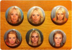 lindsay lohan mugshot refrigerator magnets. complete set of six.  with extra special bonus.. $8.00, via Etsy.