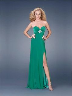 Sweetheart Column Crossing Back Green With Sequins Prom Dress PD0377