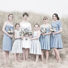 Vintage inspired dresses at a beach wedding in Camber Sands #TheGallivant #Bespoke #Bridal #taradeighton #wedding