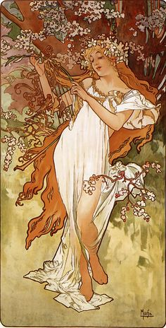 https://flic.kr/p/oxVMJ4 | Les Quatre Saisons - Printemps (spring) by Alfons Mucha (1896) | From our collection of botanical photographs, illustrations, and paintings.  We hope you will enjoy these images as much as we do.
