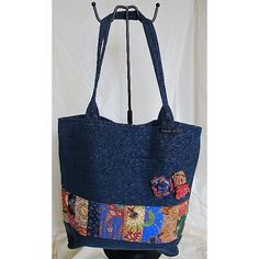 """** Handmade Jeans Bags **Items are handmade, unique, specially designed and made by me. Designs are available in one piece only. A special gifts for Yourself, Family, Friends, Love one…  New without Tags, """"Unused and Unworn Jean / Washable """" Overall in Good Condition""""Code : SWOL-B0008· Front : Patchwork with Batik Flower design·Back : Plain·Interior : Jean Lining with 1 open Compartment·Closure : Fastener Tape                     ·Approx Measures (HxWxD)…"""