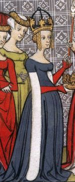 Richilde of Provence - Empress of the Franks from 870 to She was the second wife of Charles the Bald, and had one daughter who survived to adulthood. She attempted to give the throne of France to her brother after her eldest stepson died, but failed. Medieval Fashion, Medieval Dress, Medieval Clothing, Medieval World, Medieval Art, Charles The Bald, Middle Ages Clothing, 14th Century Clothing, Middle Age Fashion
