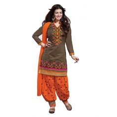 New Arraival  patiala salwar suit with embroidery