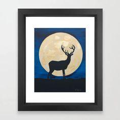 Denis the Deer Framed Art Print by theartisticanimals Framed Art Prints, Fine Art Prints, Bird Art, Animal Paintings, Printable Wall Art, Deer, Original Paintings, Artwork, Artist