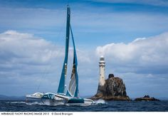 Photo by David Branigan - Ideal conditions off the West Cork for the leading multihull entries taking part in the Rolex Fastnet Race 2013.