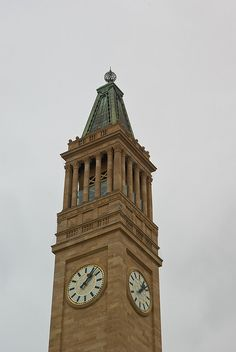 Tours from daily. Brisbane Clock Tower at City Hall. Brisbane City, Brisbane Australia, Australia Travel, Unique Clocks, Sunshine State, Capital City, Ancestry, Towers, Time Travel