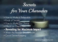 Secrets for your characters.  They should all have them.
