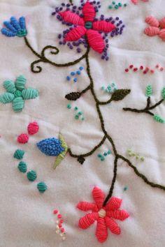Soy un Mix!: Tutorial: Como bordar con lana.