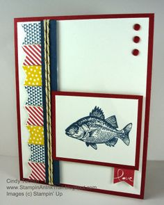Banner Blast, By The Tide, Stampin' Up, Nautical, Love, Masculine