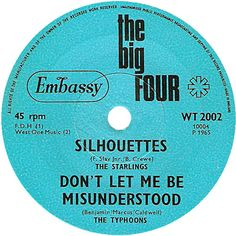 The Big Four (Silhouettes / Don't Let Me Be Misunderstood) - The Starlings / The Typhoons (WT2002) Feb '65
