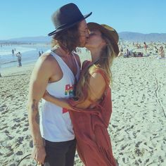 How cute are Brandon and Baelyn!  Instagram: I answer your kiss with a kiss back! @brandonboyd ✨ Happy Valentine's Day lovers ❤️ (: @natkelley) #venicebeach #loveeveryday #kiss #friendsandlovers ✨ top from @caravanamontaecristo Kisses Back, Brandon Boyd, Perfect Kiss, Venice Beach, Beautiful Couple, Happy Valentines Day, Girlfriends, Lovers, Couples