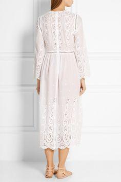 Циммерман | Ticking Broderie Anglaise хлопка платье | NET-A-PORTER.COM