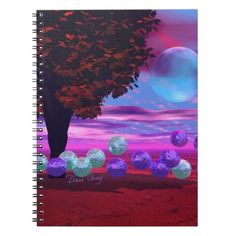 Bubble Garden - Rose and Azure Wisdom Notebook