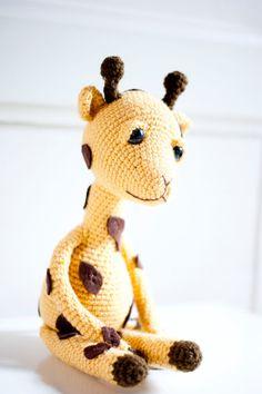 Amigurumi giraffe soft sculpture Gina the Giraffe
