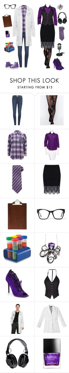 """Female Carlos and Cecil-Welcome to Night Vale"" by conquistadorofsorts ❤ liked on Polyvore featuring Paige Denim, Gipsy, ONLY, Prada, Tom Ford, ferm LIVING, Spitfire, Converse, CO and Robert Pelliccia"