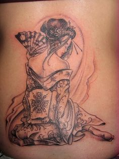 Japanese Geisha | female tattoos designs jesus tattoos men rib tattoos unique tribal ...