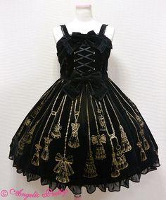 Angelic Pretty Victorian Tassel JSK /// ¥35,424 /// Bust: 89~103 cm Waist: 70~83 cm Length 95 cm