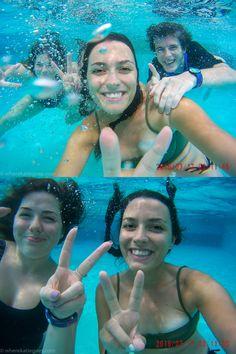 Waterpark, under water, camera, fun, splash, Thailand