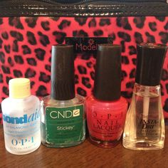 Might have to try this out....I finally figured out how to get your fingernail polish to stay on for 5-7 days!  1-buff your nail bed, 2-apply bondaid by OPI, 3-apply stickey by CND, 4-apply your favorite color, 5-apply your favorite top coat.