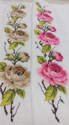Meliha Gülen's #827 media analytics. Cross Stitch Tree, Cross Stitch Borders, Modern Cross Stitch, Cross Stitch Flowers, Cross Stitching, Needlepoint Patterns, Embroidery Patterns, Herb Embroidery, Funny Cross Stitch Patterns