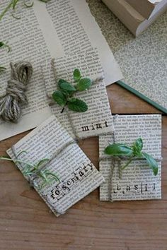 Herb Favors: While all your wedding guests may not have the green thumb necessary to grow flowers, everyone can grow herbs. Let love grow with these eco-friendly wedding favors for a spring wedding!