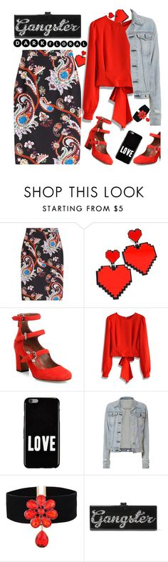 """""""Floral Paisley"""" by petalp ❤ liked on Polyvore featuring Mary Katrantzou, Tabitha Simmons, Chicwish, Givenchy, rag & bone, Edie Parker and ootd"""