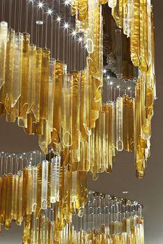 Original design chandelier (blown glass, handmade) CRYSTAL CALLIGRAPHY by Jitka Kamencová Skuhravá
