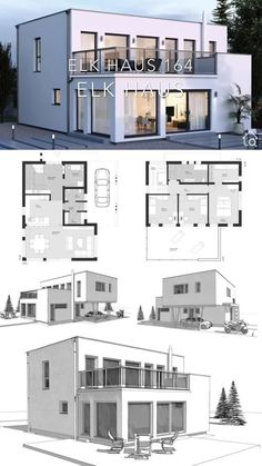 Modern House Floor Plans, Bungalow House Plans, Bungalow House Design, Contemporary House Plans, Dream House Plans, Build My Own House, Building A House, Building Facade, Modern Architecture House