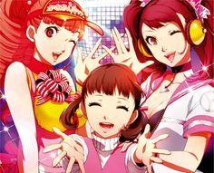 Tags: Shin Megami Tensei: PERSONA 4, Kujikawa Rise, Atlus, Doujima Nanako, Soejima Shigenori, Official Art, PNG Conversion, Mashita Kanami