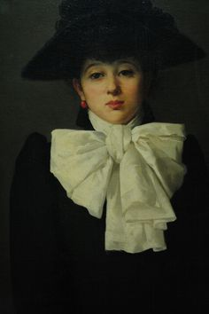 Anna Bilińska, Portret młodej kobiety z różą (Portrait of Young Woman with a rose)