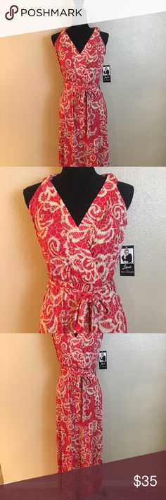 421aa457a9f NWT Lennie for Nina Leonard maxi dress sz M New with tag. Pretty red and