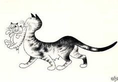 Cats in Art & Illustration: albert dubout Baby Kittens, Little Kittens, Cats And Kittens, I Love Cats, Cute Cats, Albert Dubout, Cat Heaven, Image Chat, Son Chat